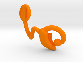 Makies Cochlear Implant: RIGHT EAR in Orange Processed Versatile Plastic