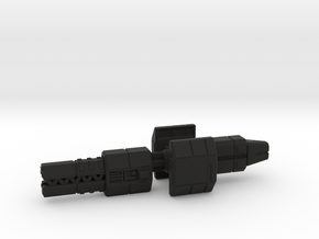 Railgunner spaceship in Black Natural Versatile Plastic