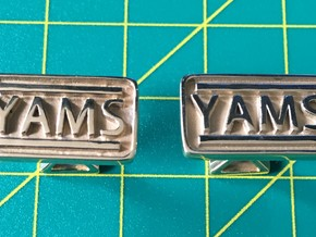 Four Pillers Of YAMS (cufflinks) in Polished Brass