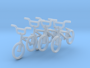 HO Scale BMX Bikes- 4 pack in Smoothest Fine Detail Plastic