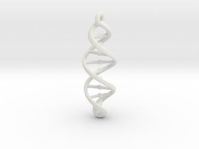 DNA Necklace in White Natural Versatile Plastic