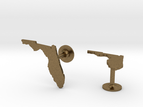 Florida State Cufflinks in Natural Bronze