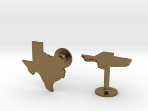 Cufflinks - Choose Any State (Texas) in Natural Bronze