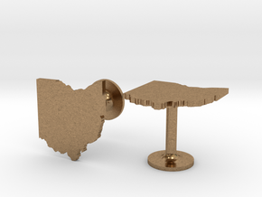 Ohio State Cufflinks in Natural Brass