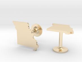 Missouri State Cufflinks in 14k Gold Plated Brass
