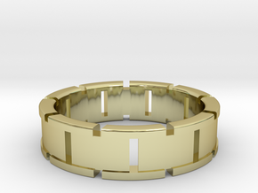 Ø0.764/Ø19.41 mm Back To The Future Ring in 18k Gold Plated Brass
