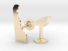 Delaware State Cufflinks in 14k Gold Plated Brass