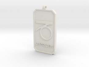 Zodiac Dogtag/KeyChain-CAPRICON in White Strong & Flexible