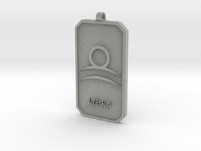 Zodiac Dogtag/KeyChain-LIBRA in Metallic Plastic