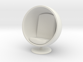 1/32 Girl sitting Egg Chair Part of Chair 003 in White Natural Versatile Plastic