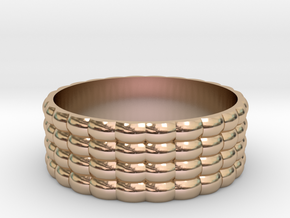QuadScale Ring in 14k Rose Gold Plated Brass