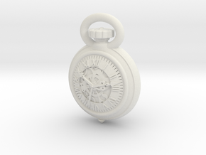 Pocket Watch Half Inch Game Piece in White Strong & Flexible