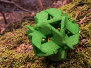 Recycling Sculpture (41mm) in Green Processed Versatile Plastic