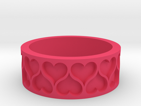 Heart Ring in Pink Processed Versatile Plastic