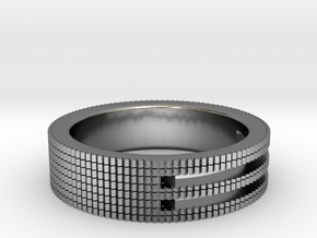 Ø0.687/Ø17.45 mm Prisma Ring in Polished Silver