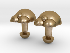 Bubble Cufflinks  in Polished Gold Steel
