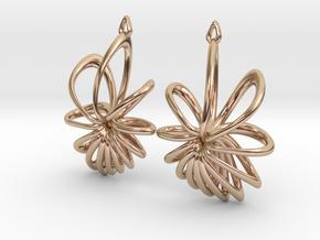 Nova Earrings in 14k Rose Gold Plated Brass