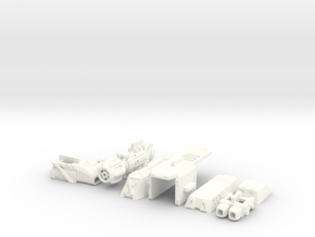 1/60 '19-Style Arm Cannon (Right) in White Processed Versatile Plastic