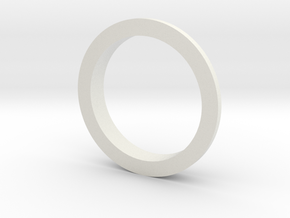 Double Ring A in White Natural Versatile Plastic