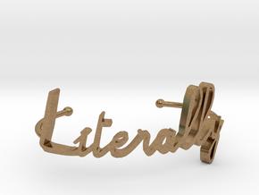 Literally bracelet in Natural Brass