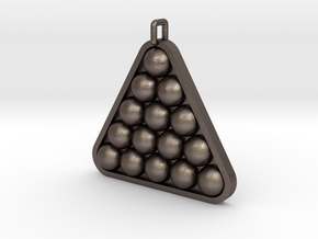 Snooker / Pool Ball Pendant in Polished Bronzed Silver Steel