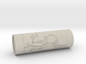 Customizable stamp Sakura Fuji hanko in Natural Sandstone