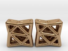 Starlit Studs in Polished Brass