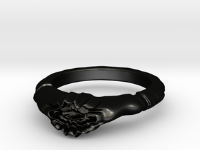 Eldritch Corruption Ring Size 10 in Matte Black Steel