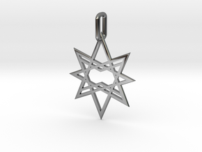 Double Octagon Star Pendant in Fine Detail Polished Silver