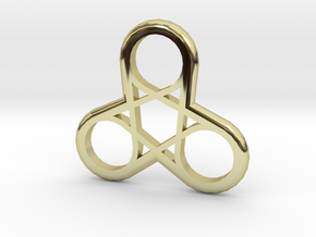 Triple Loop Pendant in 18k Gold Plated Brass