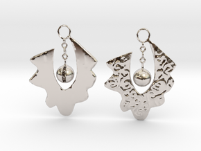 Lace Earrings By Inna in Rhodium Plated Brass