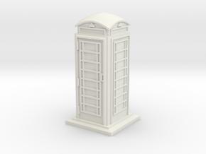 HO/OO Gauge Phone Box in White Natural Versatile Plastic
