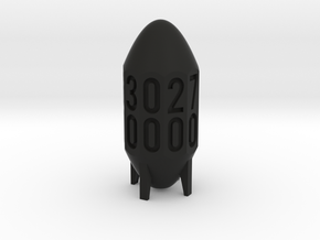 Missile Dice in Black Strong & Flexible: d00
