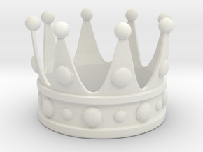 Animal King Crown in White Natural Versatile Plastic