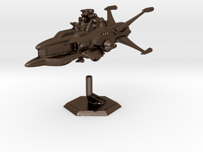 Star Sailers - Vulcarian - Patrol Cruiser  in Polished Bronze Steel