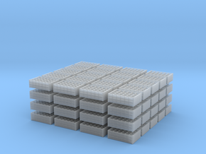 1:35 Wooden Bottle Crates - 80 ea in Smooth Fine Detail Plastic