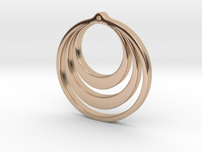 Earring Classic Model A in 14k Rose Gold Plated Brass