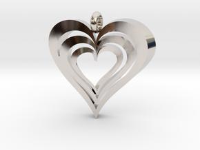 Interlocked Hearts Pendant in Platinum