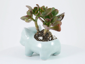 Ceramic Bulbasaur in Gloss Celadon Green Porcelain