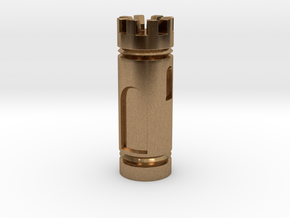 CHESS ITEM TORRE / ROOK in Natural Brass
