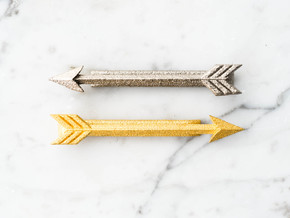 Arrow Tie Bar in Polished Nickel Steel