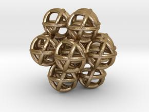 Egg of Life - Fractal Ganesha Sphere 30mm in Polished Gold Steel