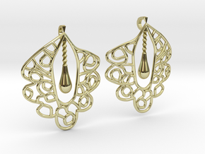 Granada Earrings (Curved Shape). in 18k Gold