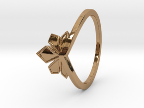 Couronne de cristaux Ring Design Ring Size 7.75 in Polished Brass