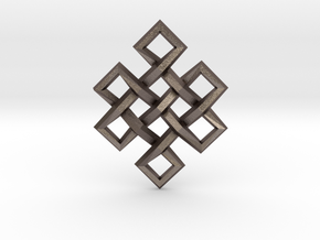 Endless Knot in Polished Bronzed Silver Steel