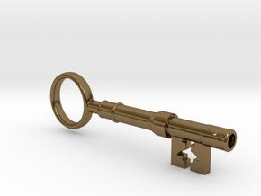 Sherlock Holmes - 221B Baker St. key in Polished Bronze