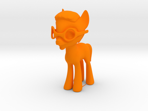Phil Pony in Orange Processed Versatile Plastic