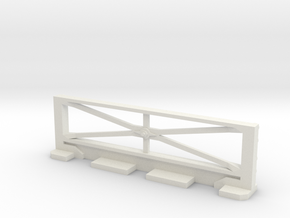 Basic Bulkhead Rail  in White Natural Versatile Plastic