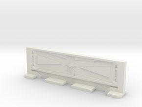 Basic Bulkhead Rail 3  in White Natural Versatile Plastic