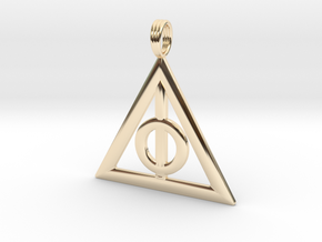 Harry Potter Deathly Hallows Pendant in 14K Yellow Gold